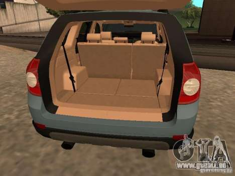 Chevrolet Captiva für GTA San Andreas Rückansicht