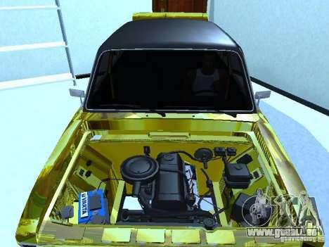 VAZ 2106 (Gold) für GTA San Andreas zurück linke Ansicht