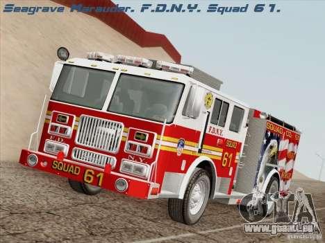 Seagrave Marauder. F.D.N.Y. Squad 61. pour GTA San Andreas