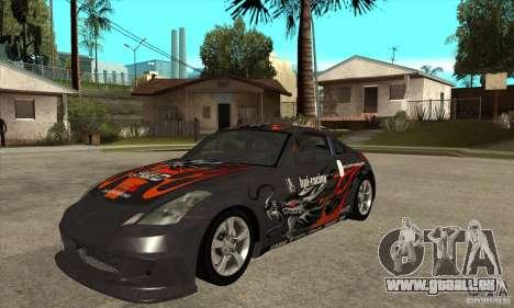Nissan 350z Stock - Tunable pour GTA San Andreas sur la vue arrière gauche