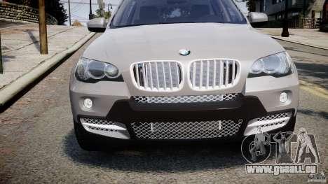 BMW X5 xDrive 4.8i 2009 v1.1 pour GTA 4 est une vue de l'intérieur
