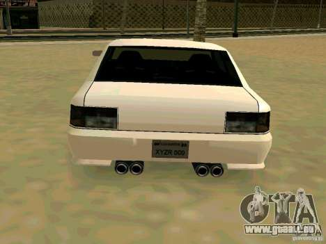 New Sultan v1.0 für GTA San Andreas Innenansicht