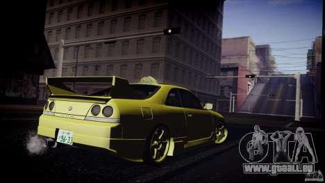 Nissan Skyline GTS R33 für GTA San Andreas Rückansicht