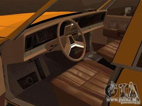 Chevrolet Caprice 1986 Taxi pour GTA San Andreas vue arrière
