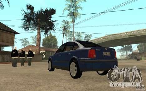 VW Passat B5 1.8T pour GTA San Andreas sur la vue arrière gauche