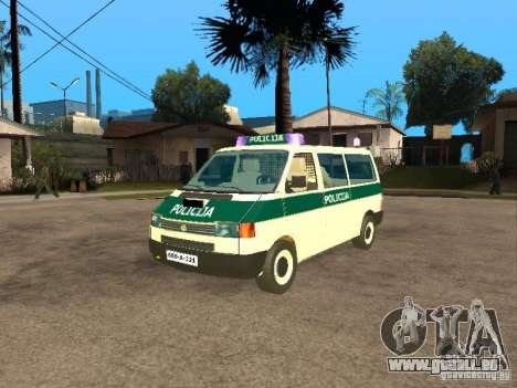 Volkswagen Transporter T4 Bosnian police pour GTA San Andreas