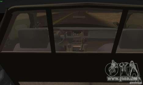 Ford Crown Victoria Alaska Police pour GTA San Andreas sur la vue arrière gauche