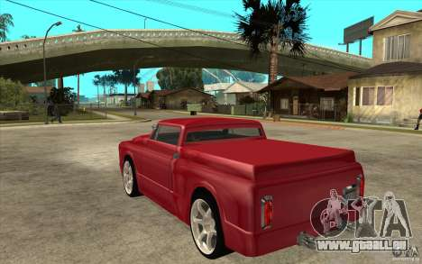 Slamvan Custom pour GTA San Andreas sur la vue arrière gauche