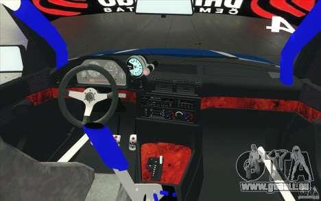 BMW E34 V8 pour GTA San Andreas vue de dessus