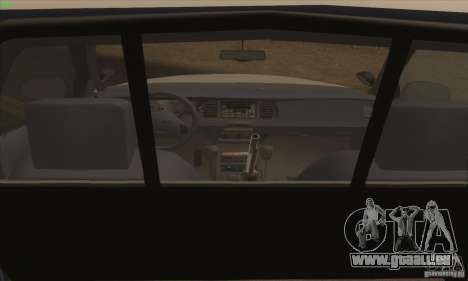 Ford Crown Victoria California Police für GTA San Andreas zurück linke Ansicht