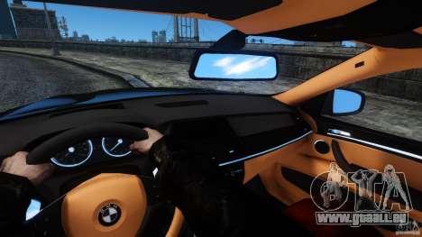 BMW X6 2013 für GTA 4 Innenansicht