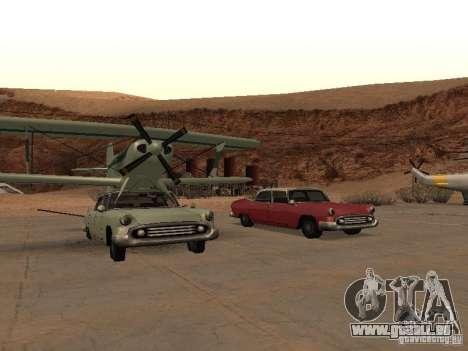 Voiture-avion pour GTA San Andreas laissé vue