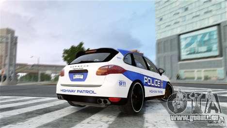 Porsche Cayenne Cop pour GTA 4 est une gauche
