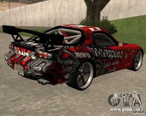 Mazda RX-7 drift king für GTA San Andreas linke Ansicht