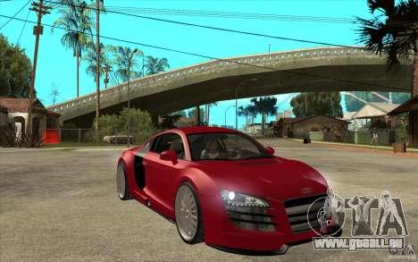 Audi R8 5.2 FSI custom pour GTA San Andreas vue arrière