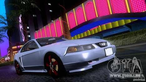 Ford Mustang GT 1999 pour GTA San Andreas laissé vue