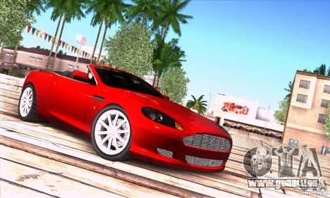 Aston Martin DB9 für GTA San Andreas Rückansicht