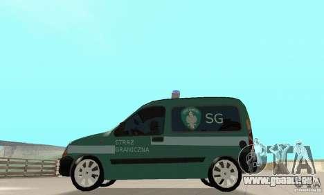 Renault Kangoo Straz Graniczna pour GTA San Andreas vue de droite