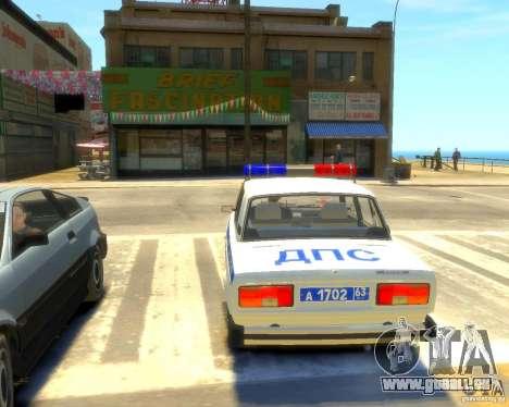 VAZ-2105-Polizei für GTA 4 hinten links Ansicht