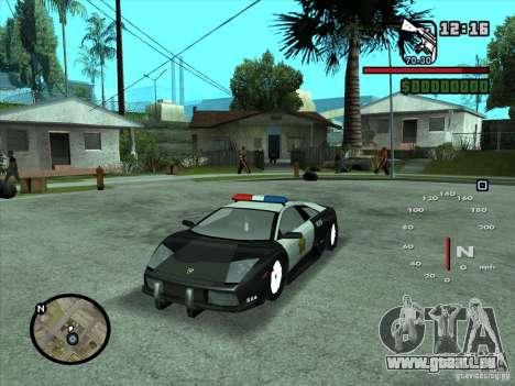 Lamborghini Murcielago Police für GTA San Andreas