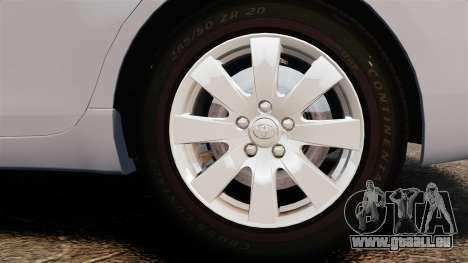 Toyota Camry Altise 2009 pour GTA 4 Vue arrière