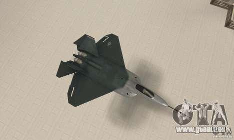 Y-f22 Lightning pour GTA San Andreas vue de droite