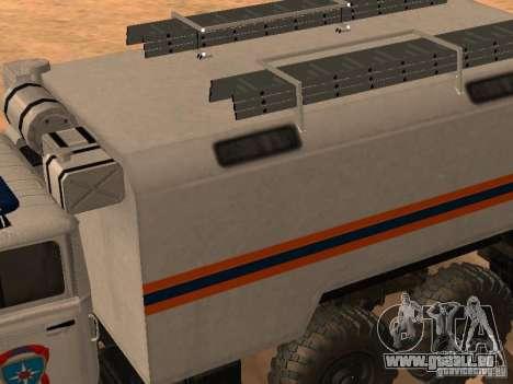 Ural 4320 MOE pour GTA San Andreas vue de droite