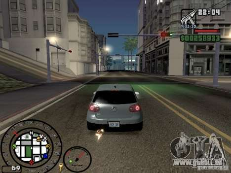 Le feu de la v2.0 de gaz d'échappement pour GTA San Andreas quatrième écran