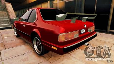 BMW M6 1985 Tuning Final pour GTA 4 est un droit