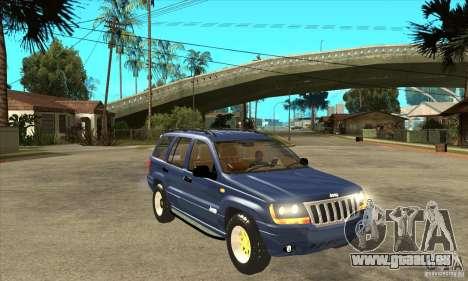 Jeep Grand Cherokee 2005 pour GTA San Andreas vue arrière