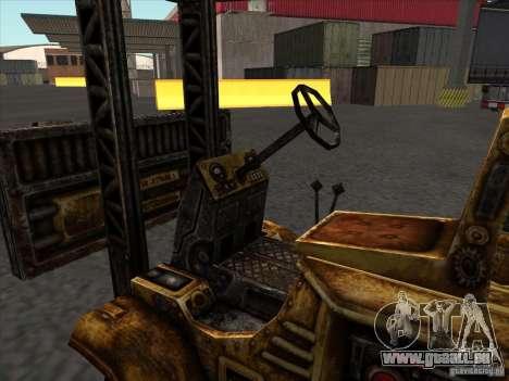Chariot élévateur du TimeShift pour GTA San Andreas vue intérieure