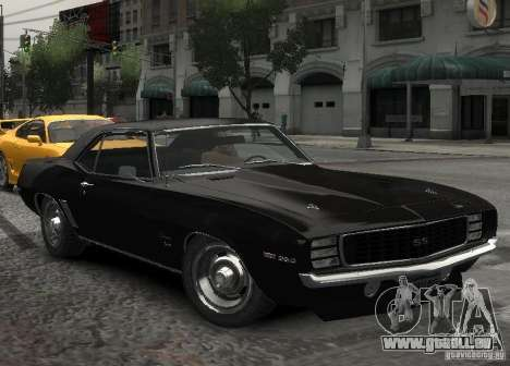 Chevrolet Camaro SS 350 1967 pour GTA 4 Vue arrière