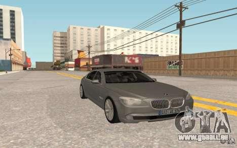 BMW 730d pour GTA San Andreas sur la vue arrière gauche