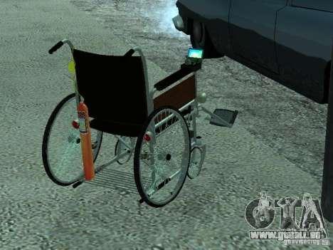 Fauteuil roulant manuel pour GTA San Andreas laissé vue