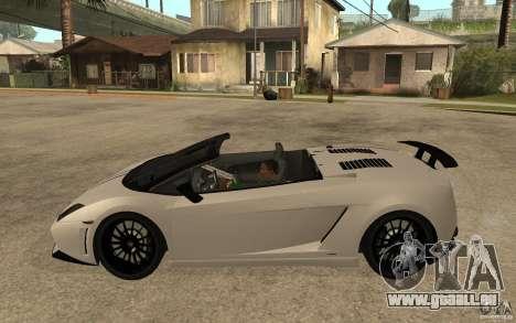 Lamborghini Gallardo LP570-4 pour GTA San Andreas laissé vue