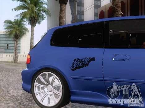 Honda Civic IV GTI pour GTA San Andreas vue arrière