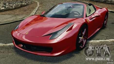 Ferrari 458 Spider 2013 v1.01 pour GTA 4