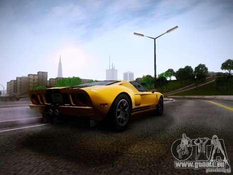 Ford GT für GTA San Andreas Rückansicht