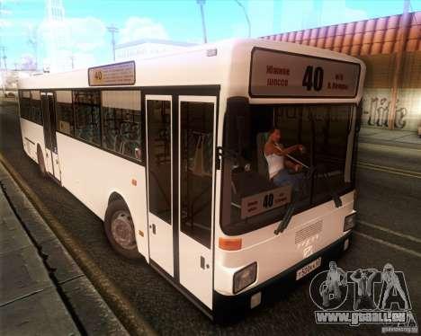 MAN SL202 pour GTA San Andreas sur la vue arrière gauche