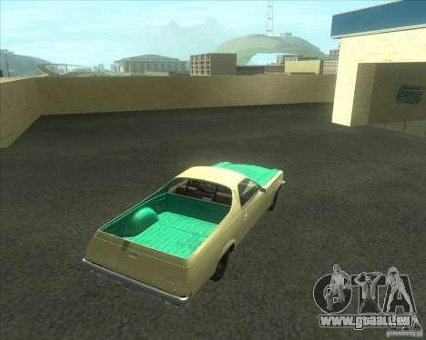 1973 Chevrolet El Camino (old) pour GTA San Andreas laissé vue