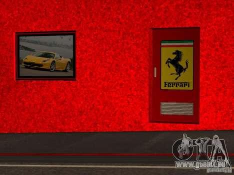 Nouveau Showroom de Ferrari à San Fierro pour GTA San Andreas sixième écran