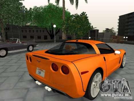Chevrolet Corvette (C6) pour GTA San Andreas laissé vue