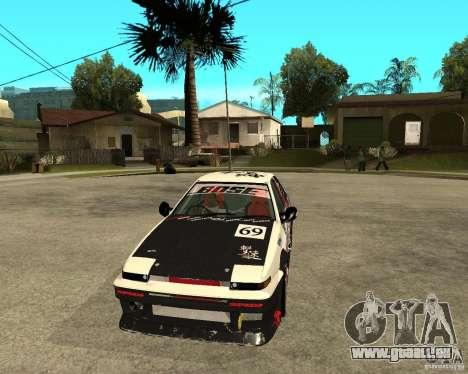 Yoshikazu AE86 für GTA San Andreas Rückansicht