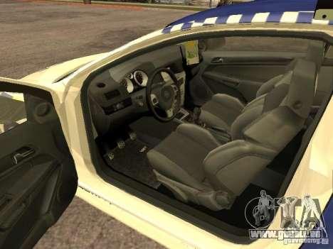 Opel Astra 2007 Police pour GTA San Andreas sur la vue arrière gauche