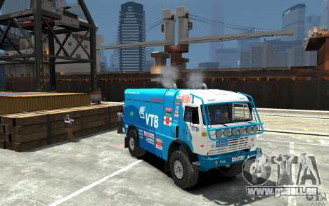 KAMAZ 4911 Rally MASTER für GTA 4 Rückansicht