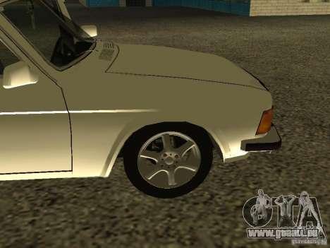 GAZ 3102 Wolga für GTA San Andreas Rückansicht