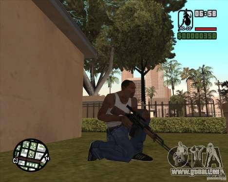 Le RPK-74 pour GTA San Andreas deuxième écran