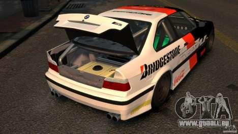 BMW M3 E36 FSC pour GTA 4 Vue arrière
