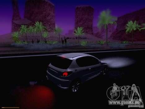 Peugeot 206 für GTA San Andreas Unteransicht