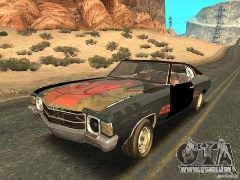 Chevrolet Chevelle Rustelle pour GTA San Andreas vue de côté